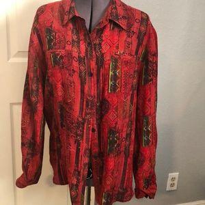 Chico silk blend blouse